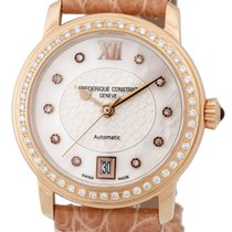 Frederique Constant Ladies Automatic Diamond Womens Watch Date...