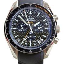 Omega Speedmaster HB-SIA 44mm Black Titanium GMT Co-Axial...