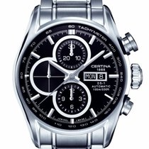 Certina DS1 Chronograph Farbe Schwarz Silber