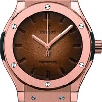 Hublot Classic Fusion 45mm Scritto Berluti King Gold Watch