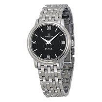 Omega De Ville Prestige Black Dial Ladies Watch 424.10.27.60.0...