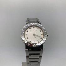 Bulgari Ladies  Steel Silver 26mm Diamond Bb26ss Quartz Watch