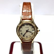 Cartier Santos Couger 18k Solid Yellow Gold Ladies Watch W/...