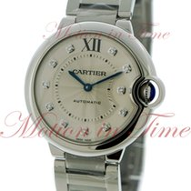 Cartier Ballon Bleu Medium Automatic. Silver Diamond Dial -...