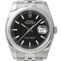 Rolex Oyster Datejust 36 mm 116200 Jubilé Schwarz Index