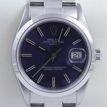 Rolex Oyster Perpetual Date Datum Stahl Chronometer Quickset
