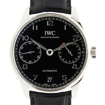萬國 (IWC) Portuguese Stainless Steel Black Automatic IW500703