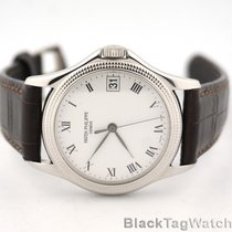 "Patek Philippe Calatrava 18k white Gold ""Clous de Paris&#3..."