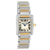 Cartier Tank Francaise Small Steel Yellow Gold Quartz Watch...