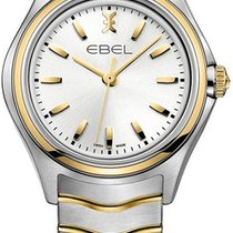 Ebel 1216195 Classic Wave in Steel with Yellow Gold Bezel - on...