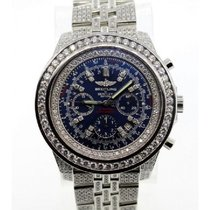 Breitling For Bentley Men's Blue Dial Stainless Steel...