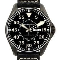 Hamilton Khaki Aviation Pilot Stainless Steel Black Automatic...