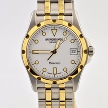 Raymond Weil Flamenco Two Tone Stainless Steel White Swiss...