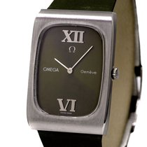 Omega Rectangular Gentlemans Watch Ref-1110116 Stainless Steel...