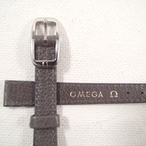 Omega 10 mm grey leather Omega strap 8mm steel buckle VTGwatch