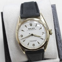Rolex Vintage Oyster Perpetual 6084 14K Yellow Gold Bubble Back