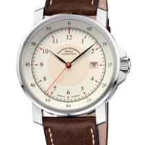Mühle Glashütte M 29 Classic Cream Dial-Brown Leather Strap...