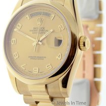 Rolex Day-Date President 18K Yellow Gold Champagne Arabic Dial...
