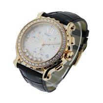 Chopard 283583-5001 Happy Sport Round Chronograph with Diamond...