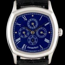 Audemars Piguet 18k White Gold Blue Dial Perpetual Calendar...