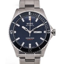 Mido Ocean Star Captain 43 Day Date Blue Dial
