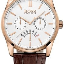 Hugo Boss Heritage Rose Gold Steel Mens Strap Watch Date Day...