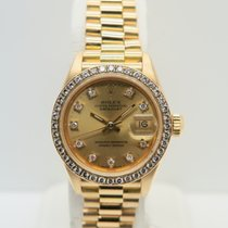 Rolex Lady-Datejust 18k Yellow Gold Factory Diamonds
