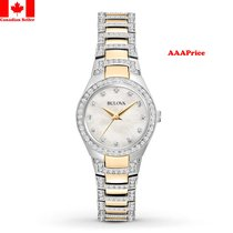 Bulova 98L198 Crystal White Mother of Pearl Dial Quartz...