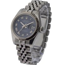 Rolex Used 68240_used_blue_roman Steel Mid Size Datejust with...