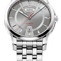 Maurice Lacroix Pontos Day/Date Grey Dial, Red Seconds, Steel...