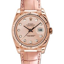 Rolex Used 116135_used_pink_dia_dial Datejust 36mm Automatic...