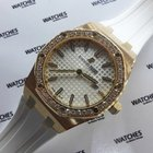 Audemars Piguet Royal Oak Lady - Rose Gold - White Dial -...