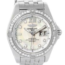 Breitling Windrider Cockpit Steel Mother Of Pearl Diamond...