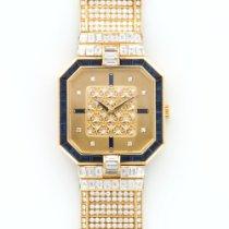 Patek Philippe Yellow Gold Full Diamond Sapphire Bracelet Watch
