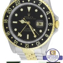 Rolex GMT-Master II 16713 Two-Tone Black Date 40mm Watch