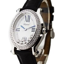 Chopard 27/8953-23 Happy Sport Oval with 2 Row Diamond Bezel -...