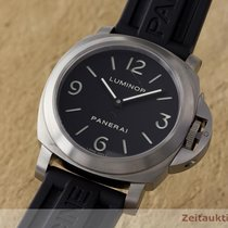 Panerai Luminor Base Titan Handauzug Pam00176 Glasboden