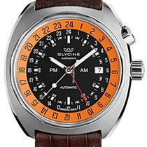 Glycine Airman SST 12 GMT Black with Orange Rehaut