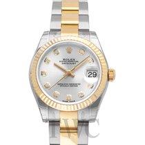 Rolex Datejust Lady 31 Sliver/18k gold 31mm G Oyster - 178273