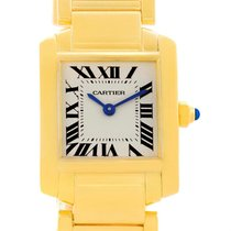 Cartier Tank Francaise 18k Yellow Gold Ladies Quartz Watch...