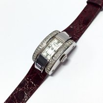 Chopard 18k Solid White Gold Ladies Watch W Diamond Bezel...