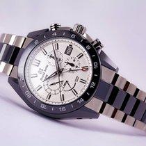 Seiko Grand Seiko Spring Drive Ceramic Chronograph GMT White Dial