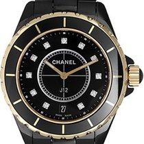 Chanel J12 Black Ceramic Quartz Midsize Unisex Watch H2544