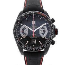 TAG Heuer Grand Carrera Automatic Chronograph Black Dial Red...