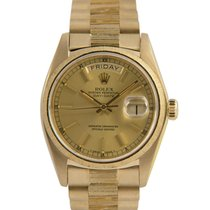 Rolex 18k Day-Date Bark, Original Diamond Dial, Ref: 18078