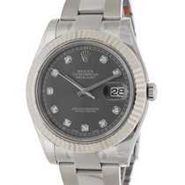 Rolex Datejust II 116334 Steel, Diamonds, 41mm