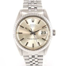 Rolex Datejust 1603 silver dial special fluted bezel with COSC...