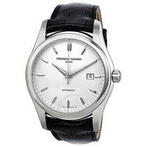 Frederique Constant Index Automatic Silver Dial Black Leather...
