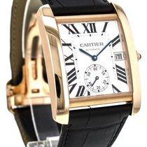 Cartier W5330001 Tank MC Mechanical Silver Dial Men BRN...
