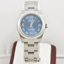 Rolex Oyster Perpetual Lady 177200 Blue Face Box & Papers...